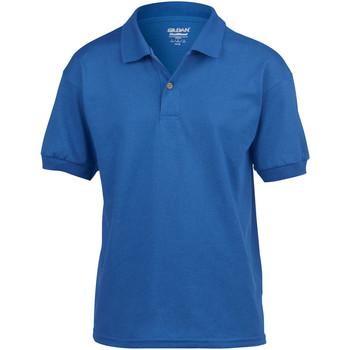 Textiel Kinderen Polo's korte mouwen Gildan Jersey Royaal Blauw
