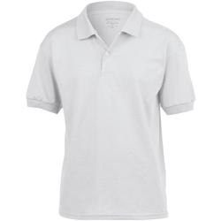 Textiel Kinderen Polo's korte mouwen Gildan Jersey Wit