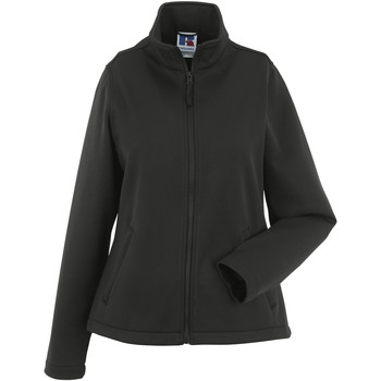 Textiel Dames Fleece Russell Softshell Zwart