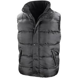 Textiel Heren Dons gevoerde jassen Result Padded Zwart