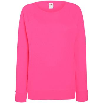 Textiel Dames Sweaters / Sweatshirts Fruit Of The Loom Raglan Fuchsia