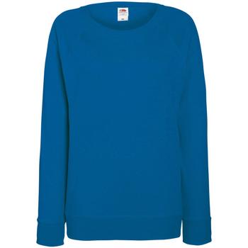Textiel Dames Sweaters / Sweatshirts Fruit Of The Loom Raglan Royaal Blauw