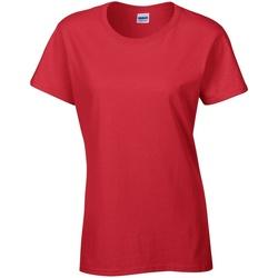 Textiel Dames T-shirts korte mouwen Gildan Missy Fit Rood