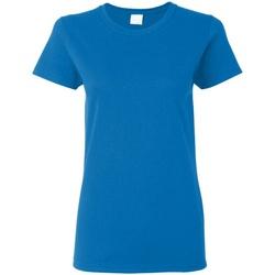 Textiel Dames T-shirts korte mouwen Gildan Missy Fit Royaal Blauw