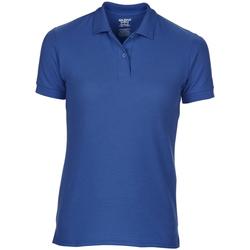 Textiel Dames Polo's korte mouwen Gildan Pique Royaal Blauw