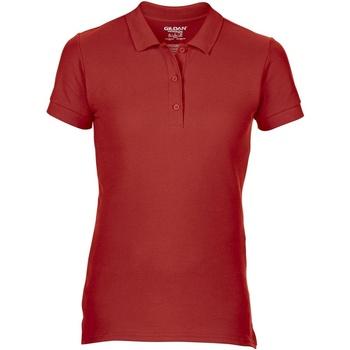 Textiel Dames Polo's korte mouwen Gildan Pique Rood