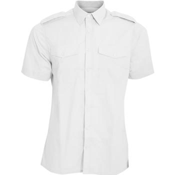 Textiel Heren Overhemden korte mouwen Kustom Kit KK133 Wit