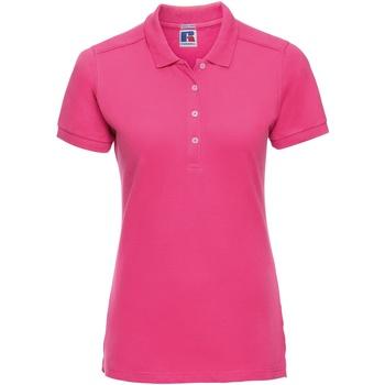 Textiel Dames Polo's korte mouwen Russell Stretch Fuchsia