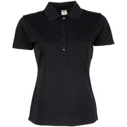 Textiel Dames Polo's korte mouwen Tee Jays Stretch Zwart