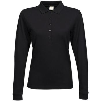 Textiel Dames Polo's lange mouwen Tee Jays TJ146 Zwart