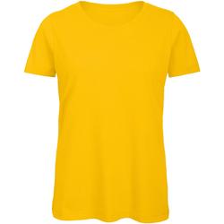Textiel Dames T-shirts korte mouwen B And C Organic Goud