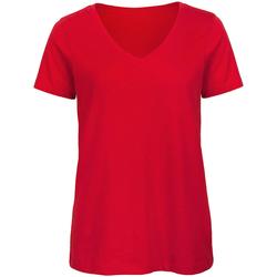 Textiel Dames T-shirts korte mouwen B And C Organic Rood