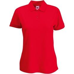 Textiel Dames Polo's korte mouwen Fruit Of The Loom 63212 Rood