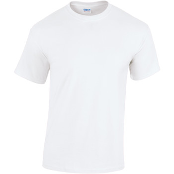 Textiel Heren T-shirts korte mouwen Gildan Heavy Wit