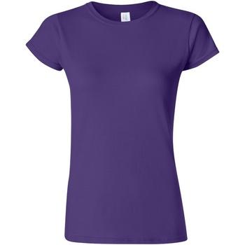 Textiel Dames T-shirts korte mouwen Gildan Soft Paars