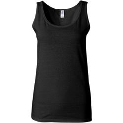 Textiel Dames Mouwloze tops Gildan Soft Style Zwart