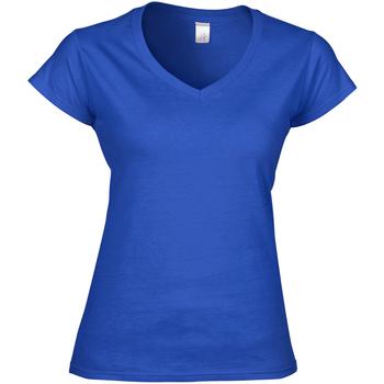 Textiel Dames T-shirts korte mouwen Gildan Soft Style Koninklijk