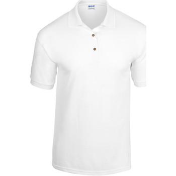 Textiel Heren Polo's korte mouwen Gildan Jersey Wit