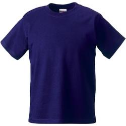 Textiel Kinderen T-shirts korte mouwen Jerzees Schoolgear Classics Paars