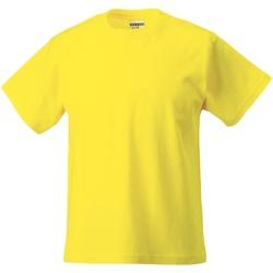 Textiel Kinderen T-shirts korte mouwen Jerzees Schoolgear Classics Geel