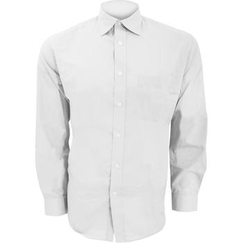 Textiel Heren Overhemden lange mouwen Kustom Kit KK104 Wit