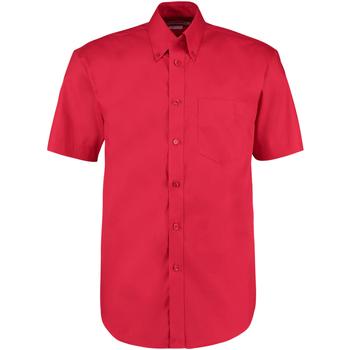 Textiel Heren Overhemden korte mouwen Kustom Kit Oxford Rood