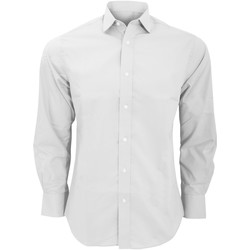 Textiel Heren Overhemden lange mouwen Kustom Kit Business Wit