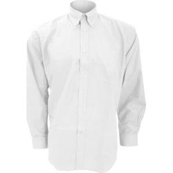 Textiel Heren Overhemden lange mouwen Kustom Kit Oxford Wit