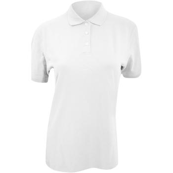 Textiel Dames Polo's korte mouwen Kustom Kit KK705 Wit