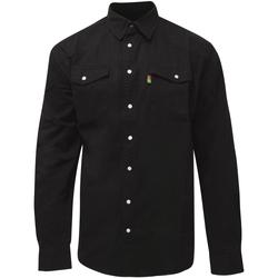 Textiel Heren Overhemden lange mouwen Duke  Zwart