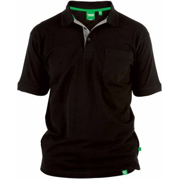 Textiel Heren Polo's korte mouwen Duke D555 Zwart