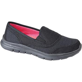 Schoenen Dames Instappers Dek Gusset Zwart