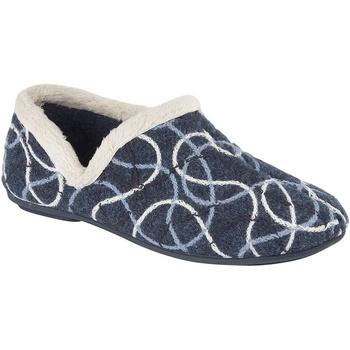 Schoenen Dames Sloffen Sleepers Knitted Blauw