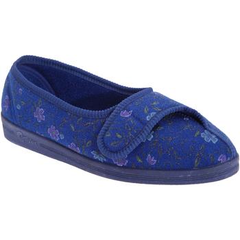 Schoenen Dames Sloffen Comfylux Floral Blauw