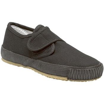 Schoenen Jongens Lage sneakers Dek Natural Zwart