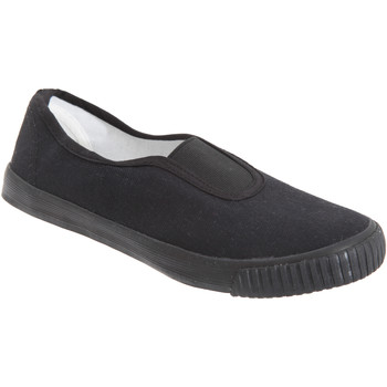Schoenen Jongens Instappers Dek Gusset Zwart