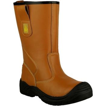 Schoenen Heren veiligheidsschoenen Amblers 142 S3 Tan