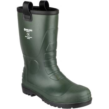 Schoenen Heren veiligheidsschoenen Footsure 97 GREEN PVC RIGGER Groen