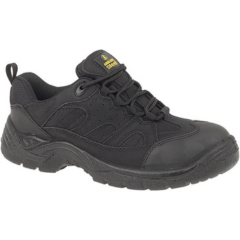 Schoenen Heren veiligheidsschoenen Amblers FS214 BLACK TRAINER SHOE Zwart