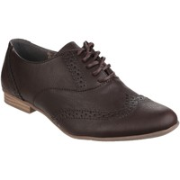 Schoenen Dames Derby Divaz Lace Up Bruin