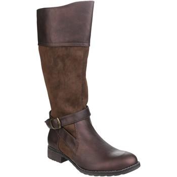 Schoenen Dames Hoge laarzen Divaz Contrast Bruin