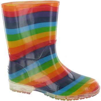 Schoenen Meisjes Regenlaarzen Cotswold Rainbow Multi
