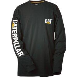 Textiel Heren T-shirts met lange mouwen Caterpillar Trademark Zwart