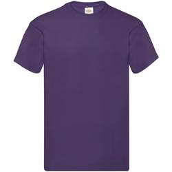 Textiel Heren T-shirts korte mouwen Fruit Of The Loom Original Paars