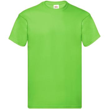 Textiel Heren T-shirts korte mouwen Fruit Of The Loom SS12 Lime