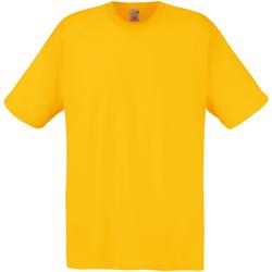 Textiel Heren T-shirts korte mouwen Fruit Of The Loom Original Zonnebloem Geel