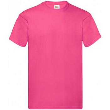 Textiel Heren T-shirts korte mouwen Fruit Of The Loom Original Fuchsia
