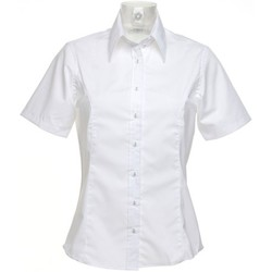 Textiel Dames Overhemden Kustom Kit Business Wit
