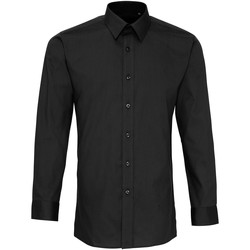 Textiel Heren Overhemden lange mouwen Premier PR204 Zwart