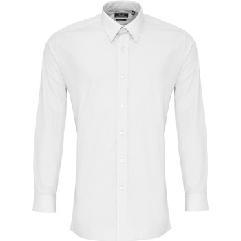 Textiel Heren Overhemden lange mouwen Premier PR204 Wit